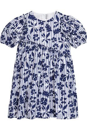 Il gufo Girls Printed Dresses - Floral cotton dress