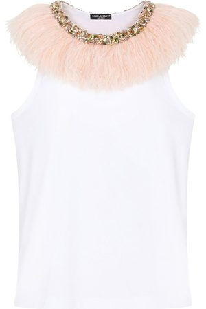 Dolce & Gabbana Faux fur-trim vest
