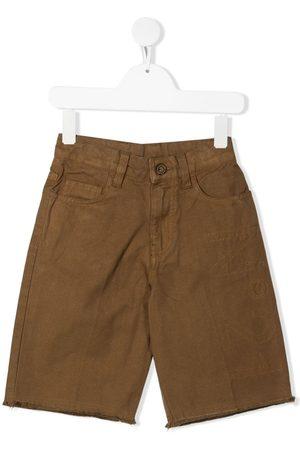 Nº21 Shorts - Stitched logo denim shorts