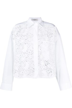 VALENTINO Floral embroidery shirt