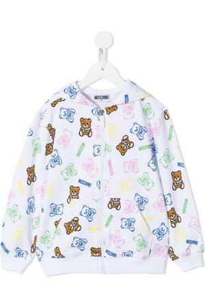 Moschino Hoodies - Teddy bear-print zip-up hoodie