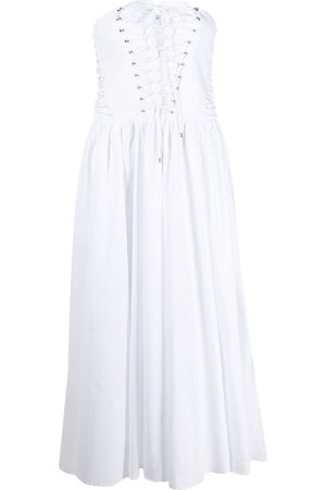Serafini Strapless flared midi dress