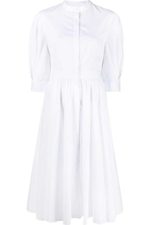 Alexander McQueen Women Casual Dresses - Flared draped-back shirtdress