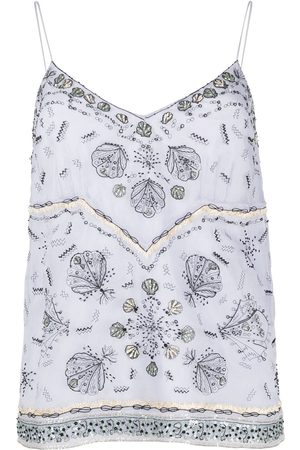 Emilio Pucci Women Camisoles - Conchiglie-print silk camisole top