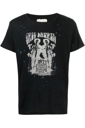 GREG LAUREN Graphic-print crew-neck T-shirt