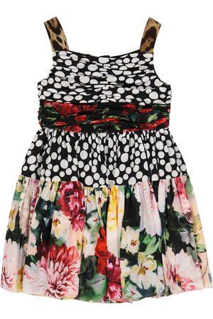 Dolce & Gabbana Girls Printed Dresses - Printed silk crêpe de chine dress