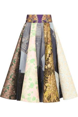 Dolce & Gabbana Patchwork-print midi skirt