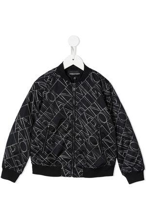 Emporio Armani Bomber Jackets - Embroidered logo bomber jacket