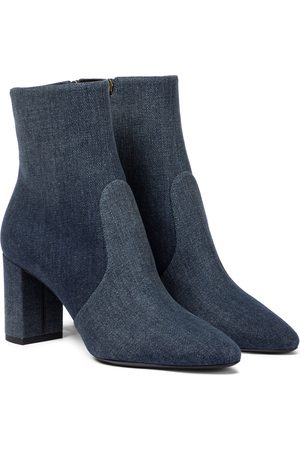 Saint Laurent Loulou 75 denim ankle boots