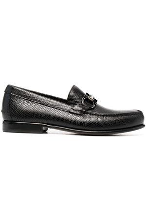 Salvatore Ferragamo Men Loafers - Snakeskin-effect slip-on loafers