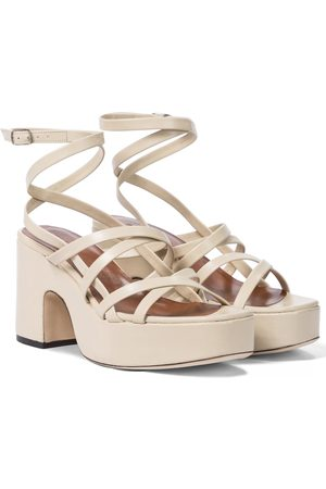 By Far Women Sandals - Pamela leather platform sandals