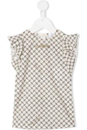Elisabetta Franchi La Mia Bambina Horsebit-detail cotton blouse - Neutrals