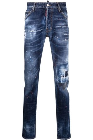 Dsquared2 Men Skinny - Ripped mid-rise skinny jeans