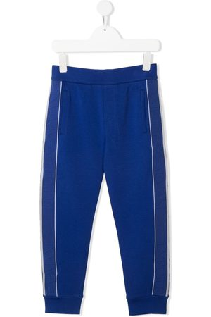 Emporio Armani Sweatpants - Stripe-detail track pants