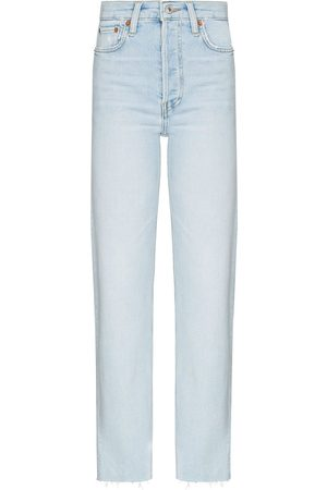 RE/DONE 70s cropped straight-leg jeans