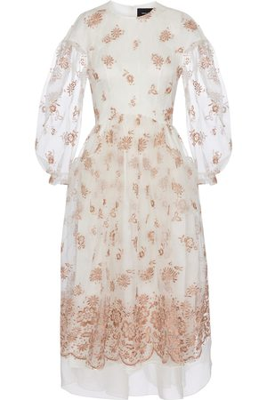 Simone Rocha Exclusive to Mytheresa – Embroidered organza midi dress