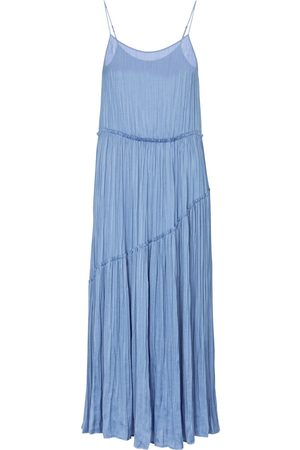 Vince Pleated crêpe jersey midi dress
