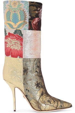 Dolce & Gabbana Patchwork-print heeled boots - Neutrals