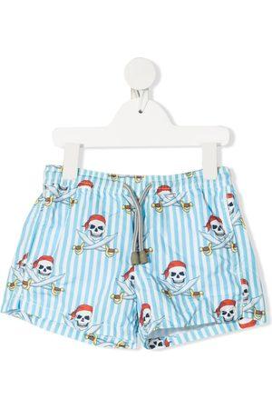 MC2 Saint Barth Kids Boys Swim Shorts - Pirate-print swim shorts