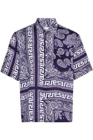 ARIES Men Short sleeves - Bandana-print short-sleeve shirt