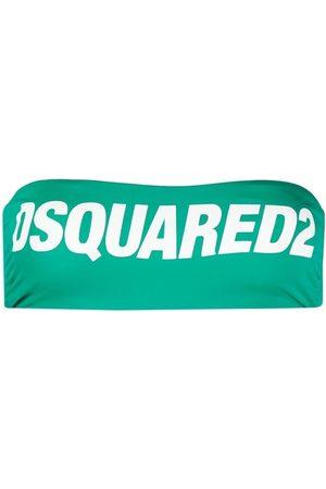Dsquared2 Strapless logo bikini top