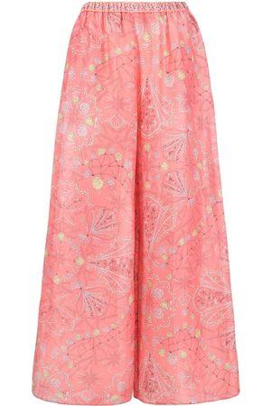Emilio Pucci Women Wide Leg Pants - Conchiglie-print palazzo pants