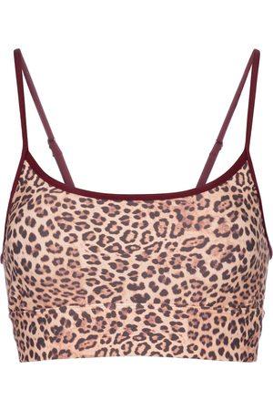 The Upside Women Sports Bras - Natacha leopard-print sports bra