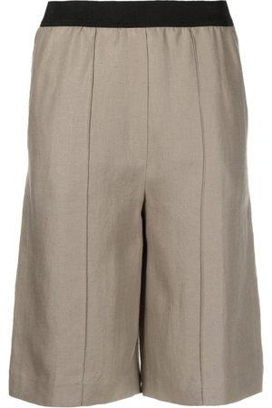 Loulou Studio Elasticated-waist knee-length shorts - Neutrals