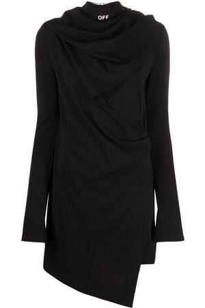 OFF-WHITE Women Asymmetrical Dresses - Bandana detail asymmetric dress