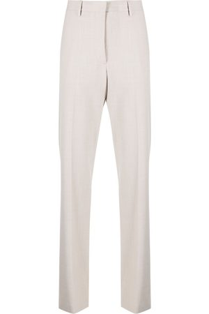 OFF-WHITE Women Formal Pants - Logo-patch tailored trousers - Grey