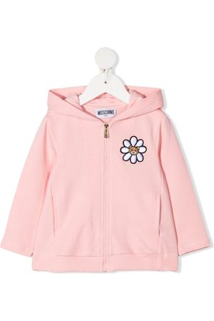 Moschino Floral teddy bear-embroidered jacket