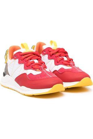 Fendi Boys Sneakers - Logo panel colour block sneakers