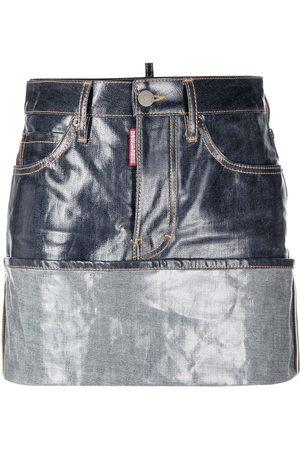 Dsquared2 Women Denim Skirts - Turn-up hem denim skirt