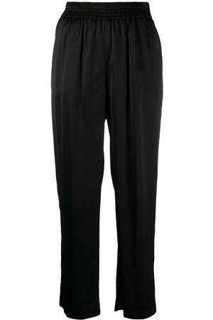 PT01 Women Straight Leg Pants - Shirred-waist trousers