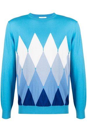 BALLANTYNE Men Sweatshirts - Argyle-pattern jumper