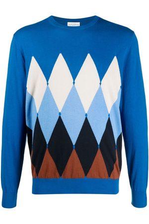 BALLANTYNE Men Sweatshirts - Argyle-pattern cashmere jumper