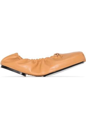 Khaite Ashland ruched ballerina shoes