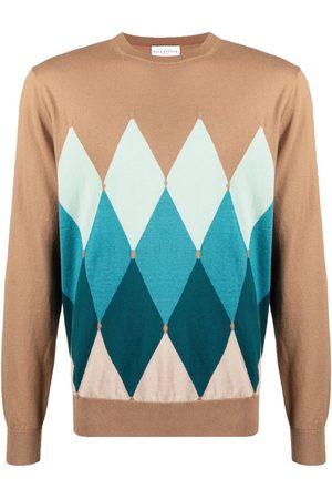 BALLANTYNE Argyle-pattern jumper