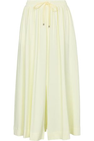 Max Mara Leisure Radar stretch-cotton midi skirt