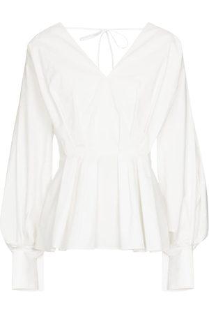 Roksanda Women Blouses - Colette peplum cotton blouse