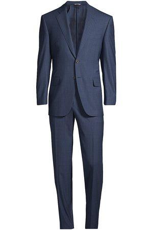 CANALI Men's Pinstripe Wool Suit - High Pin - Size 44