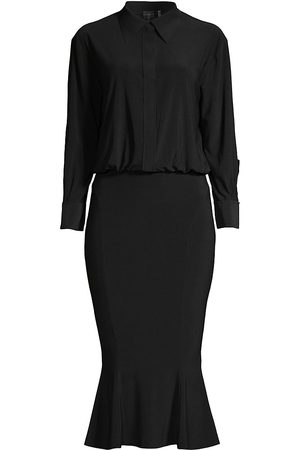 Norma Kamali Women's Boyfriend Shirt Fishtail Dress - - Size Large