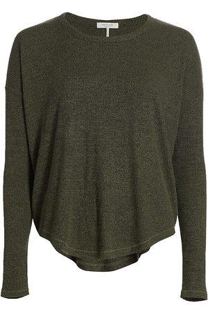 RAG&BONE Women's The Ribbed Knit Top - Olive - Size Medium
