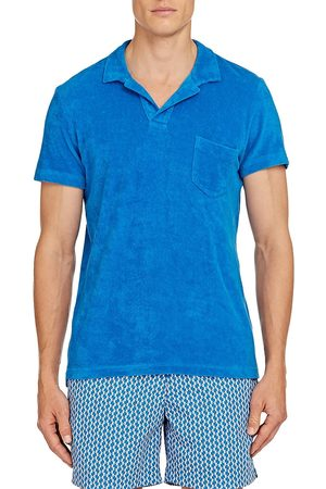 Orlebar Brown Men's Terry Polo Shirt - Sky Diver - Size Small