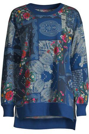 JOHNNY WAS Women's Flower Bandana High-Low Sweatshirt - Flower Bandana - Size Small