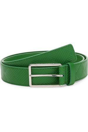 Bottega Veneta Men's Textured Leather Belt - Lawn - Size 46