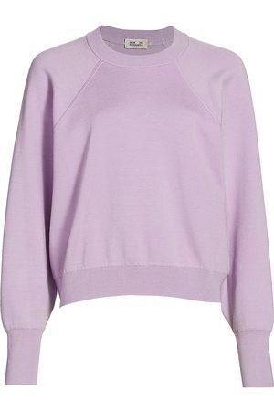 Baum und Pferdgarten Women's Cyreena Crewneck Sweater - Pastel Lilac - Size XS