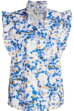 Baum und Pferdgarten Women's Medora Flutter Sleeve Top - Ink Swirl - Size 6