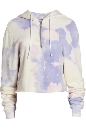 Cotton Citizen Women's Brooklyn Cropped Zip Hoodie - Lilac Blast - Size XS