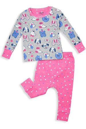 Hatley Baby Girl's Playful Pups 2-Piece Organic Cotton Long Pajama Set - - Size 3 Months